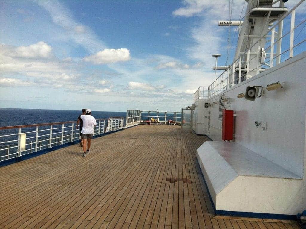 Aan boord van een cruiseschip