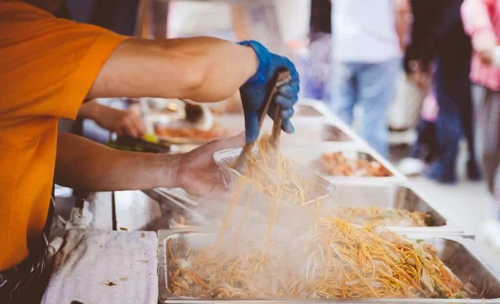 Live cooking tijdens het feest