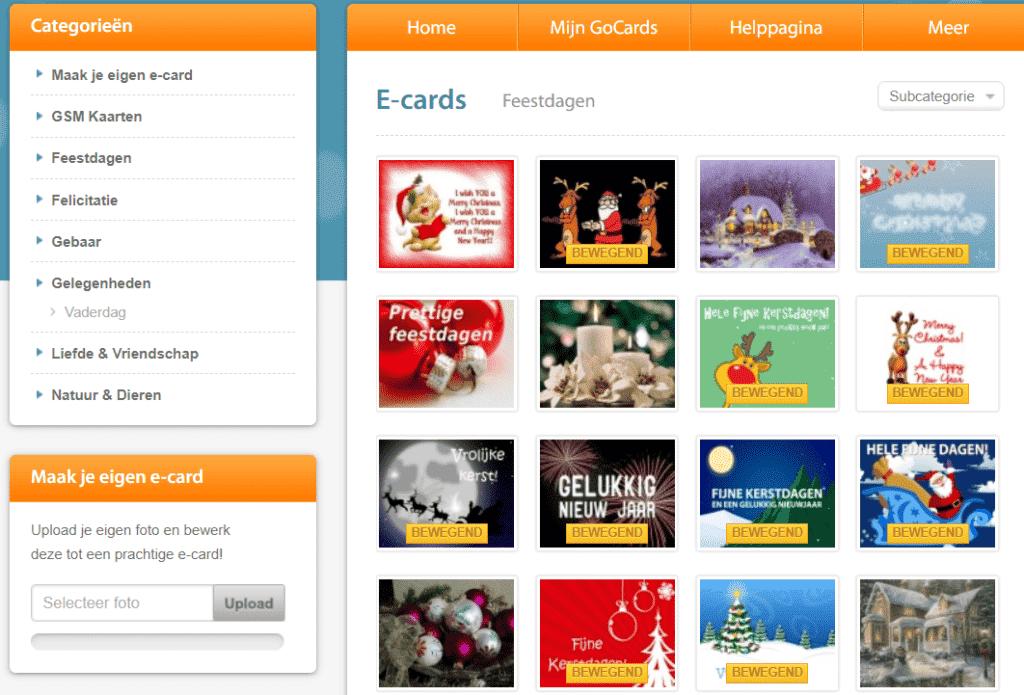 Gocards - voor het versturen van gratis kaarten