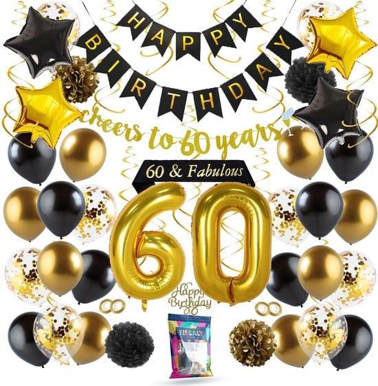 60 jaar verjaardag feestattributen