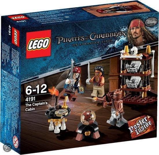 De hut van de kapitein - Soorten Lego