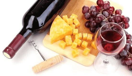 Franse wijn met kaastips