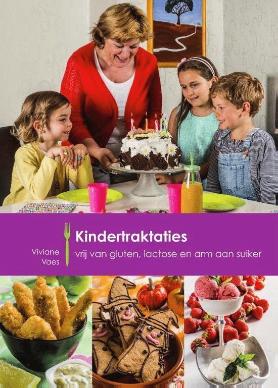 Kindertraktaties vrij van gluten, lactose, en arm aan suiker van Viviane Vaes - boeken over glutenvrij eten
