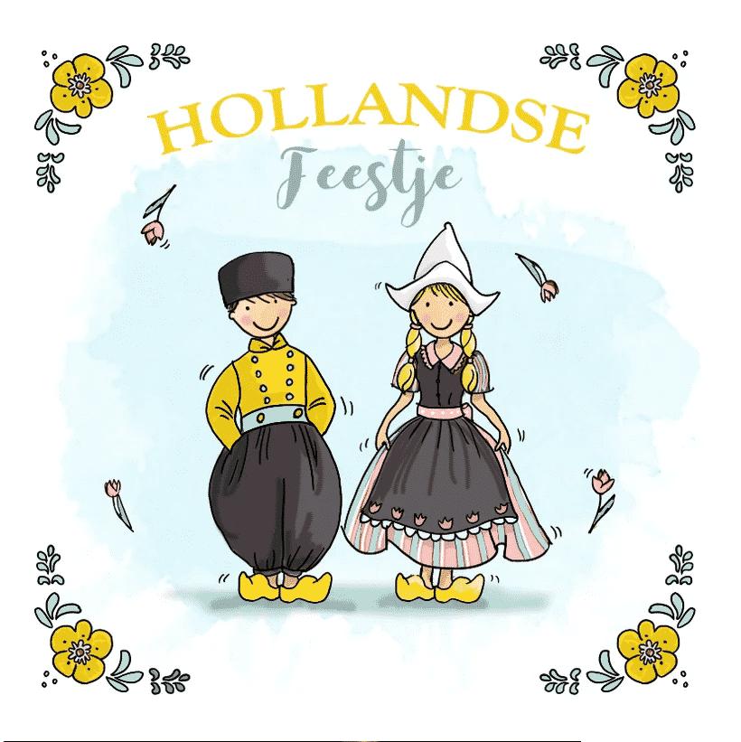 Uitnodiging Hollands feestje