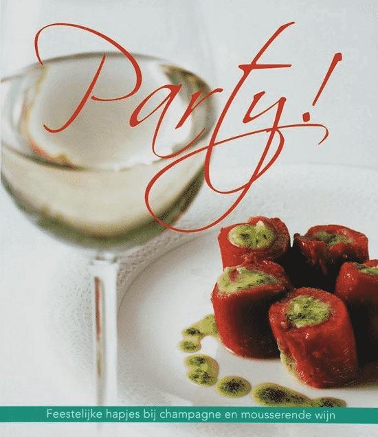 Party (Feestelijke Hapjes Bij Champagne En Mousserende Wijn) – van J.P. Vincken boeken over champagne en voeding
