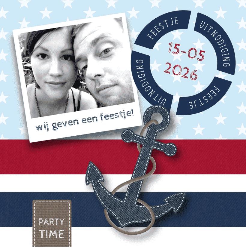 uitnodiging feestje boot