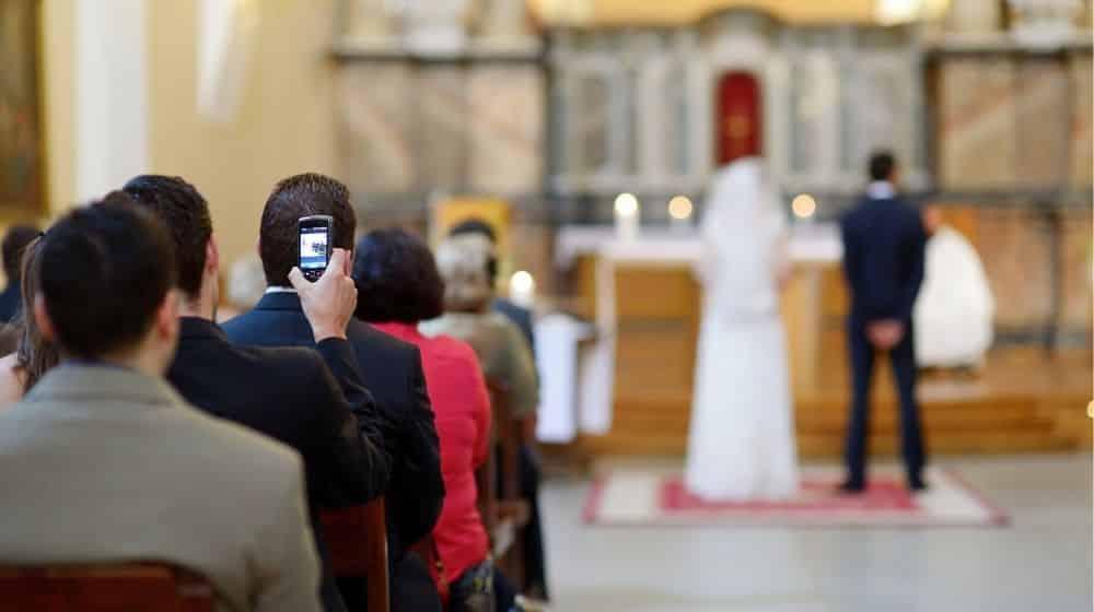 wel of geen foto's door je gasten op de bruiloft